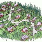 An image of the small homes on relatively small lots we propose.