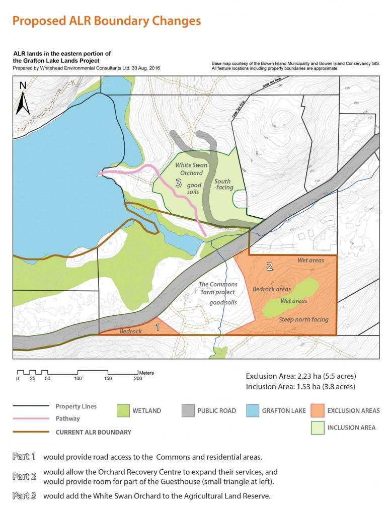 Grafton Lake ALR Proposed Exlusion and Inclusion Map